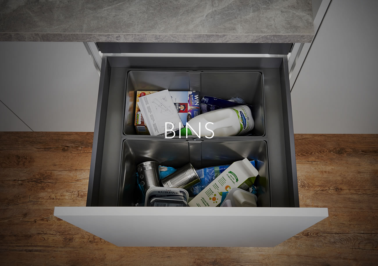 Fitted Kitchen bins